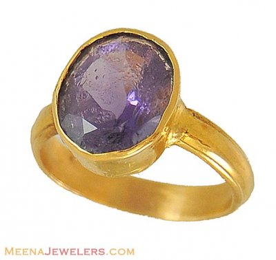 22K Gold Amethyst Ring ( Astrological BirthStone Rings )