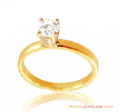 18K Gold Decent Diamond Ring ( Diamond Rings )