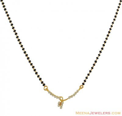 18Kt Gold Diamond Mangalsutra ( Diamond MangalSutras )