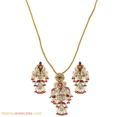 22k Exclusive Antique pendant Set ( Fancy Pendant Set )