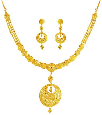 22kt Gold Chand Bali Set ( 22 Kt Gold Sets )