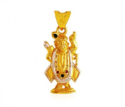 22k Lord Shrinathji Pendant ( Ganesh, Laxmi and other God Pendants )