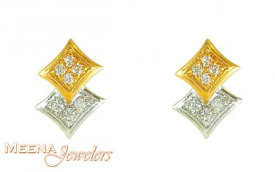 Gold Earrings with Signity ( Signity Earrings )