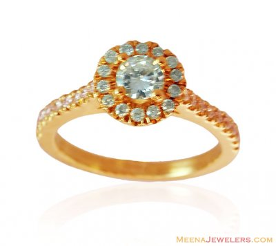 18K Yellow Gold Solitaire Ring ( Diamond Rings )