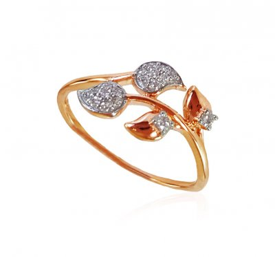 18K Rose Gold Diamond ladies Ring ( Diamond Rings )
