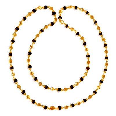 22 Karat Gold Tulsi Mala ( 22Kt Long Chains (Ladies) )