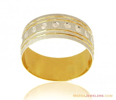 18Kt Two Tone Ring ( Wedding Bands )