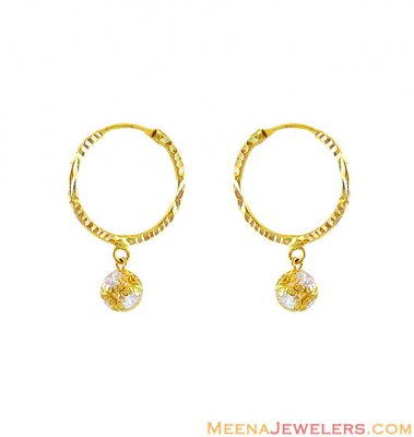 22k Gold Hoops (Earrings) ( Hoop Earrings )