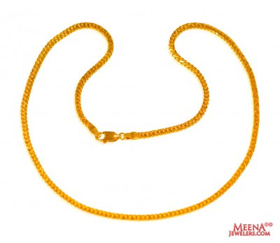 22Kt Gold Chain 16Inch ( Plain Gold Chains )