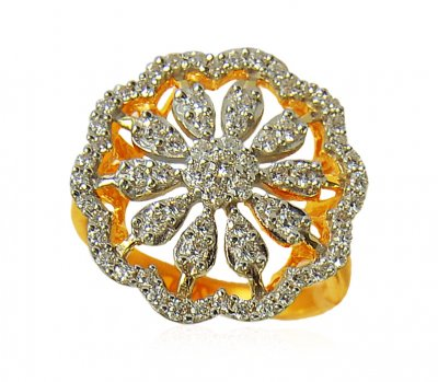 Floral 22K Gold Ring ( Ladies Signity Rings )
