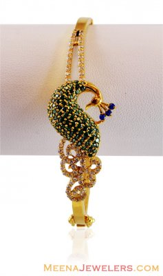 22k Exclusive Peacock Bangle ( Stone Bangles )