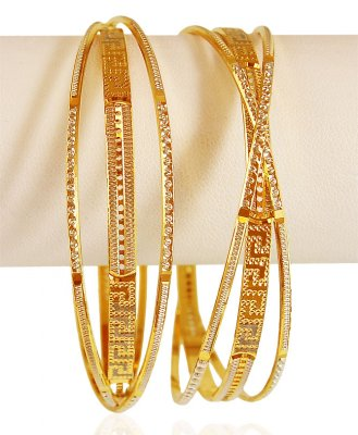 22k Gold Two Tone Bangles  ( Two Tone Bangles )