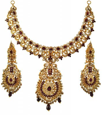 22K Exclusive Bridal Necklace Set ( Bridal Necklace Sets )