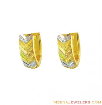 ClipOn Earrings 3 Tone 22K ( Clip On Earrings )