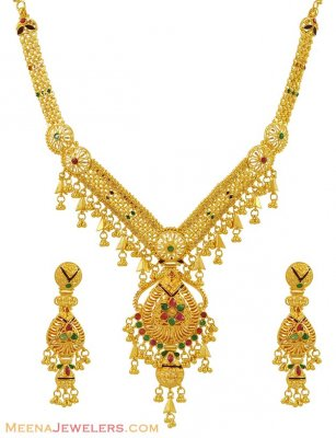 22k Combination Necklace Set ( 22 Kt Gold Sets )