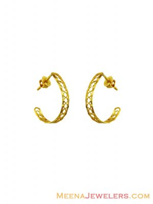 22k Fashionable Gold Hoop Earrings  ( Hoop Earrings )