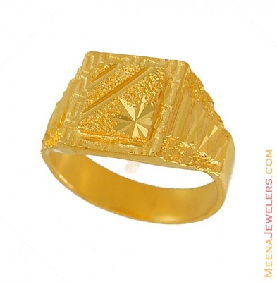 22k Exquisite Mens Ring ( Mens Gold Ring )