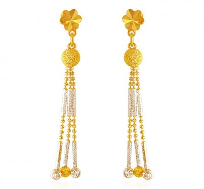 Two Tone Earrings (22K Gold) ( Long Earrings )