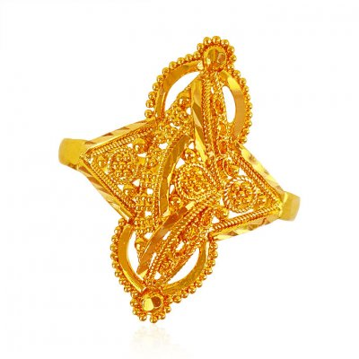 22karat Gold Fancy Ring for Ladies ( Ladies Gold Ring )