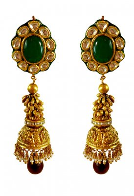 22karat Gold Antique Earrings ( 22Kt Gold Fancy Earrings )