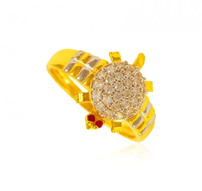 22 Karat CZ Ladies Ring ( Ladies Signity Rings )