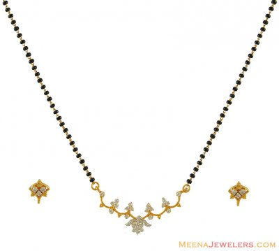 18 k Gold Diamond Mangalsutra Set ( Diamond MangalSutras )