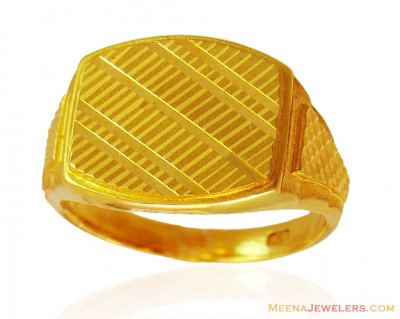 22k Mens Ring Fancy Style ( Mens Gold Ring )