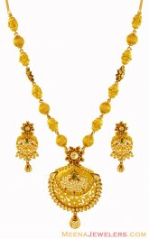 22K Designer Antique Set ( Antique Necklace Sets )