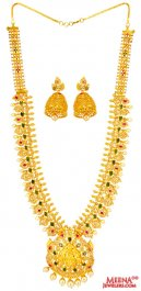 Polki Diamonds Convertible Set 22K ( Diamond Necklace Sets )