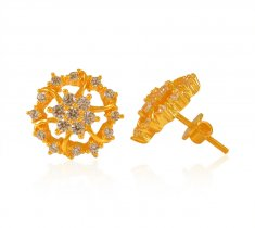 14ca5df30 Signity studded Gold Earrings - Collection of 22Kt Gold Earrings ...