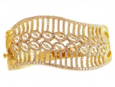 Diamond 18 Karat Gold Bracelet