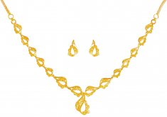 22Kt Yellow Gold  Necklace Set
