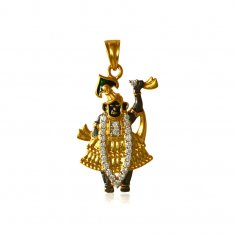 Lord Shrinathji 22K Gold Pendant ( Ganesh, Laxmi and other God Pendants )