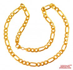 22 kt Gold Figaro Chain (20 In)