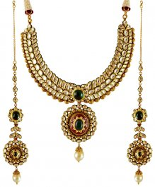 22K Kundan Bridal Necklace Set ( Bridal Necklace Sets )