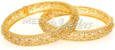22Kt Gold Polki Diamond Bangles