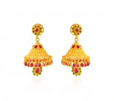 22kt Gold Traditional Earrings ( Long Earrings )