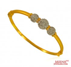 22 Kt Gold Two tone Kada