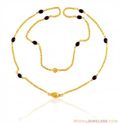 22K Gold Long Rope Beads Chain ( 22Kt Long Chains (Ladies) )
