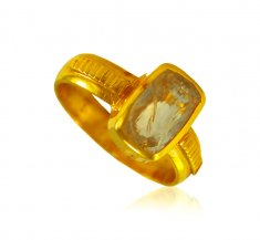 22 Karat Gold Gem Stone Ring ( Ladies Rings with Precious Stones )
