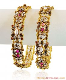 22K Gold Antique Finished Kada ( Antique Bangles )