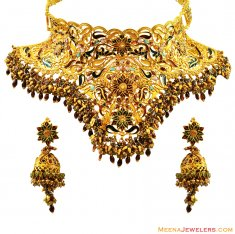 22k Traditional Antique Set ( Antique Necklace Sets )