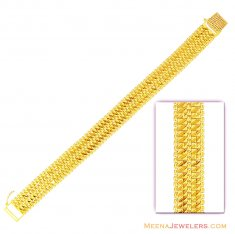 22K Fancy Mens Gold Bracelet