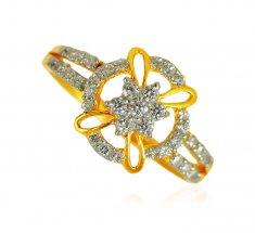 22k Gold Designer Signity Ring ( Ladies Signity Rings )