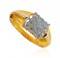 18KT Gold Diamond Men Rings ( Diamond Rings )