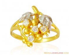 22k Fancy Signity Stone Ring