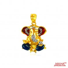 22 Kt Gold Lord Ganesh Pendant ( Ganesh, Laxmi and other God Pendants )