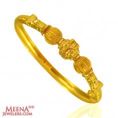 22 k Fancy Ladies Gold Kada (1 pc)