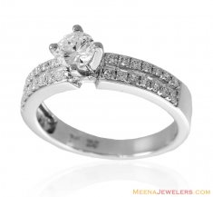 Diamond Solitaire 18K Ring ( Diamond Rings )