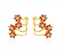 Designer Cz Earrings 22k  ( Precious Stone Earrings )